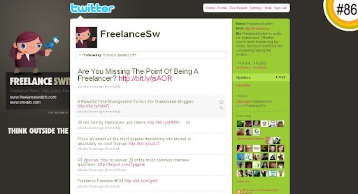 FreelanceSw 100+ Incredible Twitter Backgrounds