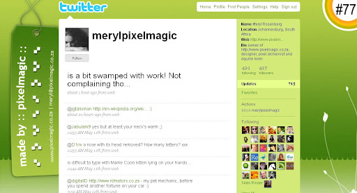 merylpixelmagic 100+ Incredible Twitter Backgrounds