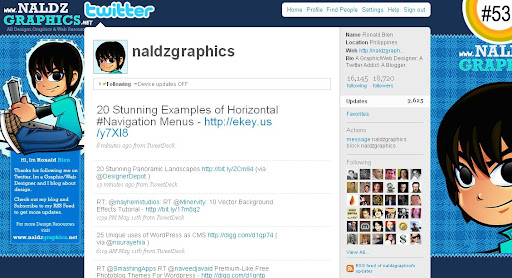 naldzgraphics 100+ Incredible Twitter Backgrounds