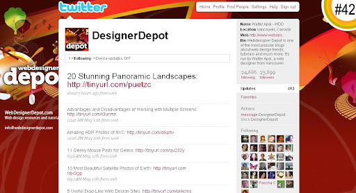 DesignerDepot 100+ Incredible Twitter Backgrounds
