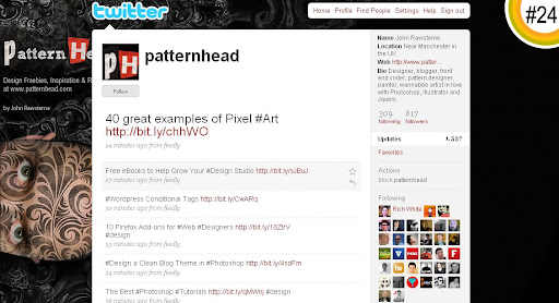 patternhead 100+ Incredible Twitter Backgrounds