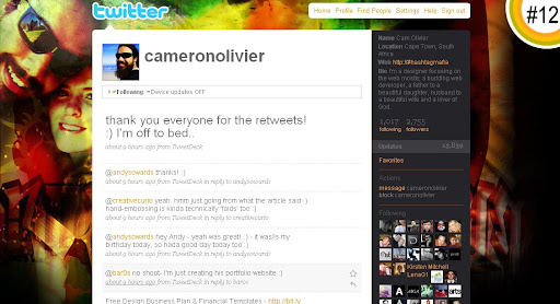 cameronolivier 100+ Incredible Twitter Backgrounds