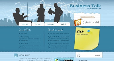 Business+Talk Visually Impressive and Smashing Blogger Templates