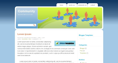 community Visually Impressive and Smashing Blogger Templates