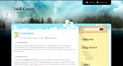 dark+forest Visually Impressive and Smashing Blogger Templates