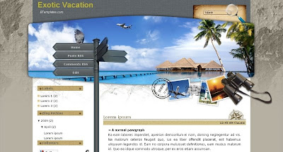 Ecotic+vacation Visually Impressive and Smashing Blogger Templates