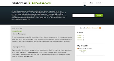 greenpress Visually Impressive and Smashing Blogger Templates