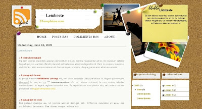 Lembrete Visually Impressive and Smashing Blogger Templates