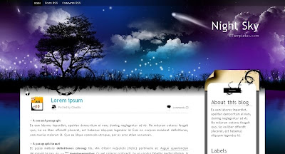 Night+Sky Visually Impressive and Smashing Blogger Templates