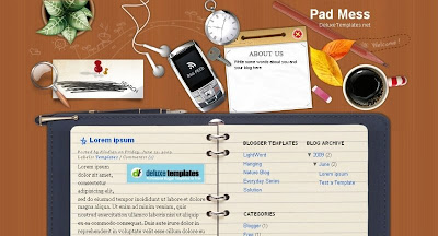 Pad+Mess Visually Impressive and Smashing Blogger Templates