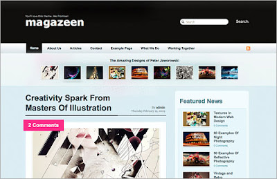 magazeen Quality Free Blogger Templates + PSD Source Files