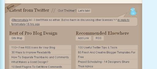problogdesign Creative Twitter Status Designs