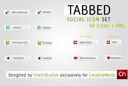 screenshot+2 Tabbed Social Media Icon Set   Designed for CreativeNerds