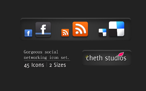 release+image Gorgeous Mini Social Networking Icon set