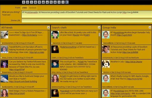 yellow Gorgeous TweetDeck Color Schemes