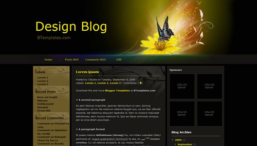 Design Blog 40+ New and Fresh Blogger Templates