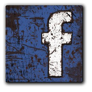 Facebook Metal Grunge Icon 2 by ThrashATL Social Network Icons Reloaded