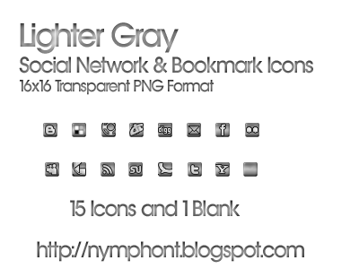 Lighter Gray Icons Social Network Icons Reloaded