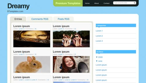dreamy Mindblowing Premium Like Free Blogger Templates