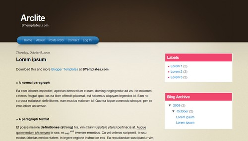Arclite Mindblowing Premium Like Free Blogger Templates
