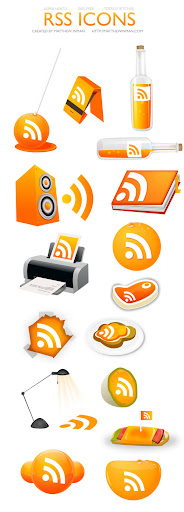 0at Fresh, Free and Gorgeous RSS/Feed Icons