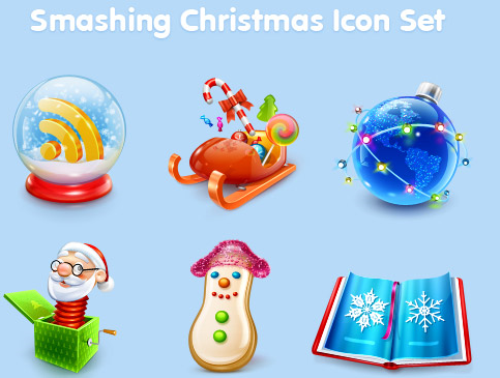 smashing christmas icon sets Design + Christmas = oh my! Inspirational Resources!