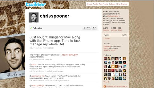 chrisspooner Inspiration Reloaded!   44 Best Twitter Background Themes