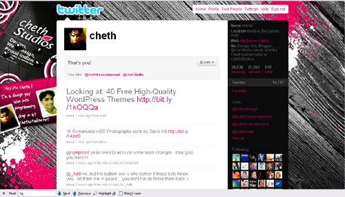 cheth Inspiration Reloaded!   44 Best Twitter Background Themes