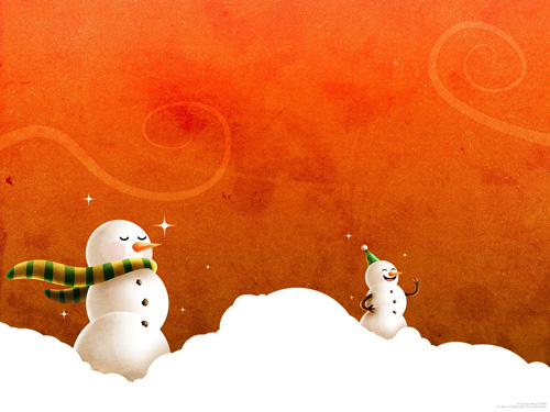 snow man 40 Gorgeous High Quality Christmas Wallpapers