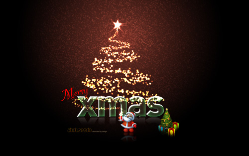 xmas wall abduzeedo 40 Gorgeous High Quality Christmas Wallpapers