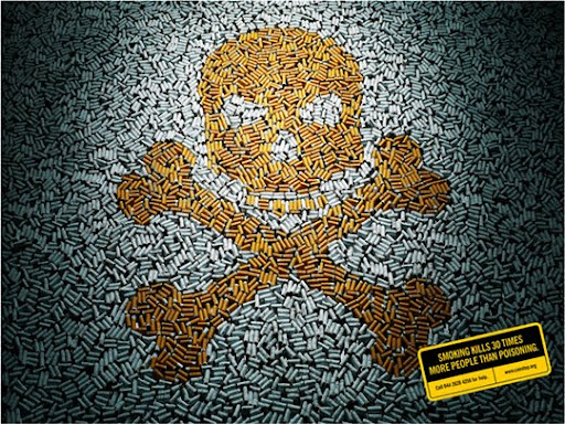 Smoking+Kills+30+More+People+Than+Poisoning 65 Creative Anti Smoking Ad Campaigns Dedicated to World No Tobacco Day