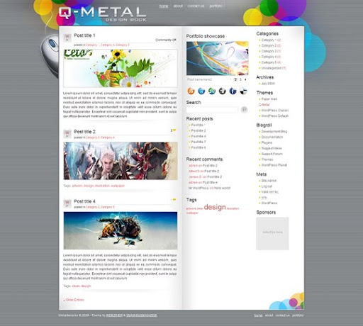 blogger+template+chethstudios Q Metal Blogger Theme | Blogspot Templates