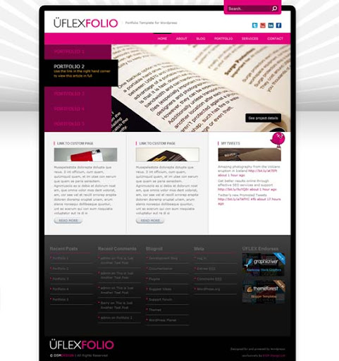 UflexFolio Fresh Premium Wordpress Themes Designed in 2010