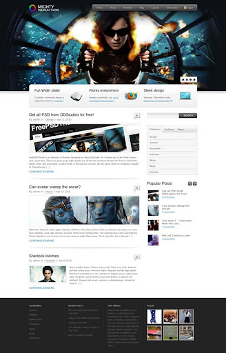 Mighty+Theme Fresh Premium Wordpress Themes Designed in 2010