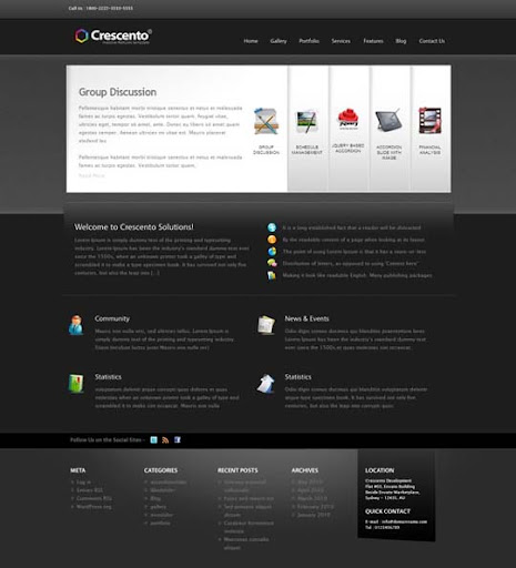 Crescento Fresh Premium Wordpress Themes Designed in 2010
