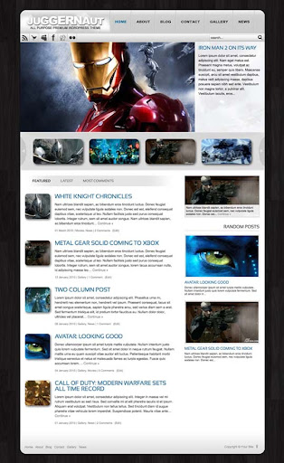 juggernaut Fresh Premium Wordpress Themes Designed in 2010