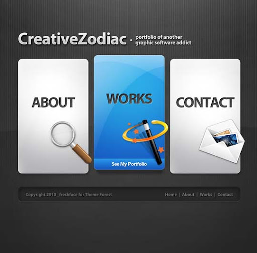 Creative+Zodiac Fresh Premium Wordpress Themes Designed in 2010
