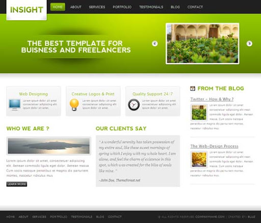 insight Fresh Premium Wordpress Themes Designed in 2010