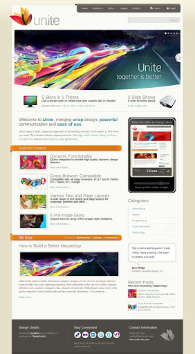 Unite Fresh Premium Wordpress Themes Designed in 2010