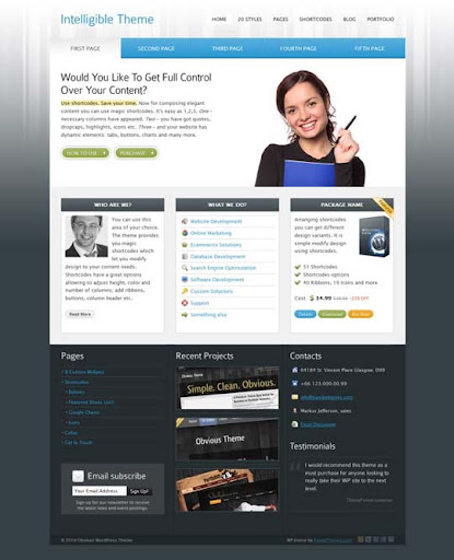 Intelligible Fresh Premium Wordpress Themes Designed in 2010