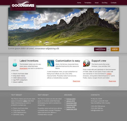 goodwaves Fresh Premium Wordpress Themes Designed in 2010