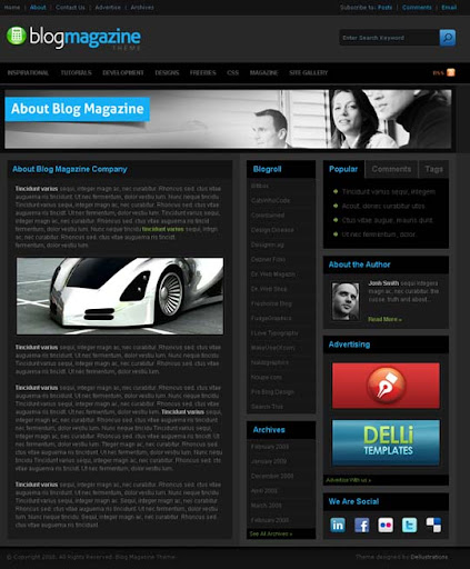 Blog+Magazine Fresh Premium Wordpress Themes Designed in 2010