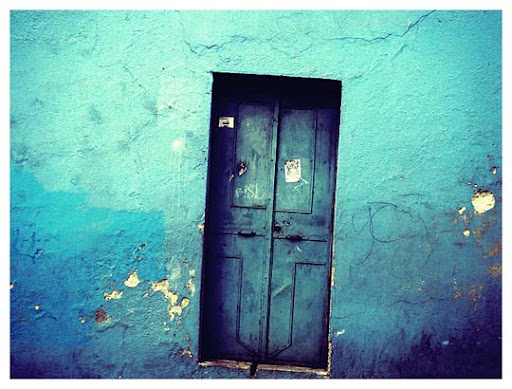 the blue door by thanuU Beautifully Blue: Color Photography Inspiration
