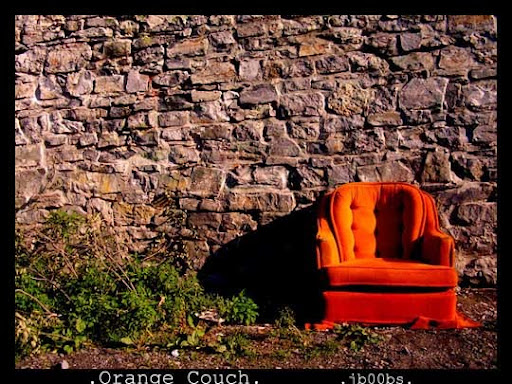 Orange Couch by jb00bs All Things Orange | Color Photography Inspiration #2