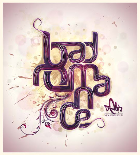 bad+romance Spectacular Examples of Typography / Text Art