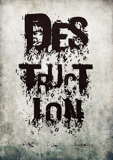 destruction Spectacular Examples of Typography / Text Art