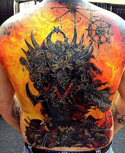 warhammer back piece by optimuspint Incredible Tattoo Designs and Body Art to Inspire You