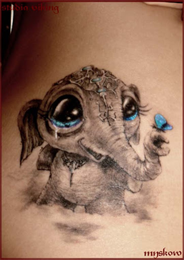 sweet litle thing by slawekmyskow Incredible Tattoo Designs and Body Art to Inspire You
