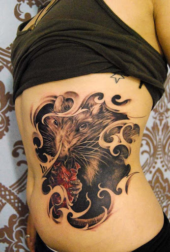 rat by CraftzBerlin Incredible Tattoo Designs and Body Art to Inspire You