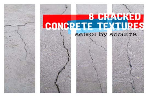 8 cracked concrete textures by scout78 15+ Useful Concrete Texture Packs for Designers